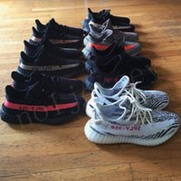 Wholesale Boot Socks Women - Zebra Boosts 350 V2 Cream White 350 V2 Running Shoes with Receipt Free Socks Basketball Shoes Kanye West Boost 350 V2 Season