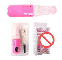 Wholesale Massaging Tongue Toy - 3 Function Rotations Soft Tongue Vibrators For Women USB Rechargeable Naughty Clitoral Stimulation Massage Device Sex Toy JJD1353