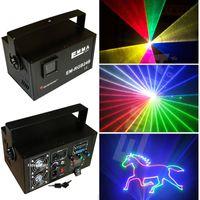 Wholesale Ilda Rgb - Mutil-color ILDA+SD+2D+3D 1500mW RGB laser show system dj equipment laser light stage light holiday laser light laser