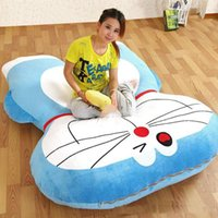 Wholesale Beanbag Free Shipping - 180cm x 140cm Japan Anime Doraemon Beanbag Plush Big Soft Bed Mattress Tatami Sofa Nice Kids Present Free Shipping