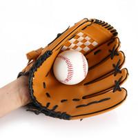 Wholesale Hockey Gloves For Skiing - 2017 BaseballLeather Softball PVC Junior 10.5 inch Hand Sport Finger Gloves For Men Sports Outdoors Accs