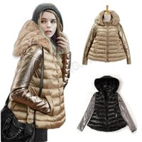 Wholesale Skirt Rabbit Fur - 2015 Winter Jacket Women Luxury Style Winter Parkas Down Coat Ladies Real Rabbit Fur Collar Outerwear Down Jacket Free Shipping