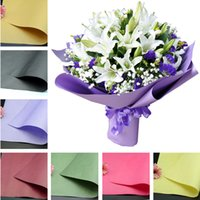 Wholesale florist gifts - Solid Color Flower Packing Paper Kraft Papers For Gift Bouquet Wrapper Of Florist Supplies Packaging Paper Flowers Wrapping Paper IB157