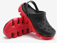 Wholesale Sneakers Holes - Free shipping Fashion Mens PVC Crocodile Shoes Adult Summer Spring Autumn Hole US Size 11 Clogs high heels sandals women sneakers