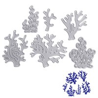 Wholesale Craft Coral - 6PC Corals Metal Cutting Dies Stencil DIY Scrapbooking Album Paper Card Embossing Craft Gift