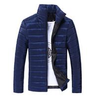 Wholesale Winter Fashion Mens Coat Navy - Wholesale- Winter Jacket Men 2016 Ultra Light Down Jacket Parka Mens Navy Winter Coats Down Man Parkas Clothing Male Plus Size 3XL 50