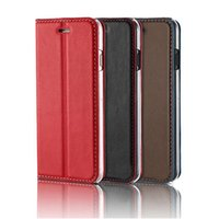 Wholesale Holster Business Card Case - New Anti-knock Iphone Cases, genuine Leather Holster Case Apple Business style for iPhone 7 7 Plus