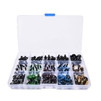Wholesale Plastic Safety Eyes Mix - 150pcs 6-12mm DIY Plastic Black Mix Color Safety 3D Eyes for Teddy BearAnimal Craft Puppet Doll Eyes Kid Toys Doll Accessories