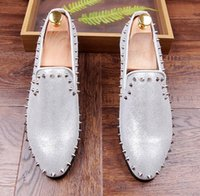 Wholesale Silver Prom Wedges - 2017 New Luxury Brand Designer Men Evening Quinceanera flat shoes camouflage tassel rivet Homecoming Prom shoe Sapato Social Masculino 71