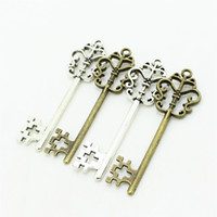 Wholesale 18 Key Jewelry - Sweet Bell Min order 20pcs 18*58mm Antique Two Color Metal Zinc Alloy Trendy Hollow Butterfly Lovely Keys Jewelry Pendant Charms D0945