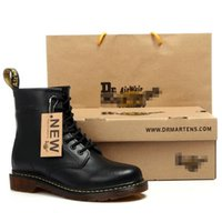 Wholesale England Shoes Women - New England Style Dr. 100% Marten genuine leather Martin Boots Martin Shoes Men&Women Short boots Brand Designer Motorcycle Boots Size 35-45
