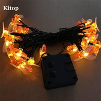 Wholesale Bee Solar - Wholesale- Kitop Bee Solar led String light 5M 20Led Waterproof outdoor garden Decorative Christmas Fairy lighting 8 modes