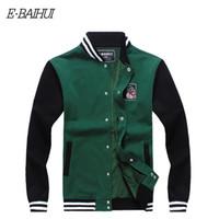 Wholesale E O S - Wholesale-E-BAIHUI brand mens hoodies and sweatshirts Moleton Masculino Cotton jacket hoodies Suit Men Sweatshirts Tracksuit Swag WY004