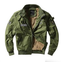 ingrosso giacche invernali in stile militare-Uomini Army Tactical Giacche Military Style Abbigliamento Uomo Inverno Thick Pilot Coat US Army 101 Air Force Bomber Jacket Coat