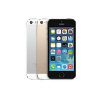 iphone 3g freigeschaltetes telefon großhandel-Original Refurbished Apple iPhone 5S mit Fingerprint Unlocked IOS Dual Core WCDMA 3G Smartphone 16 GB / 32 GB / 64 GB ROM 4.0