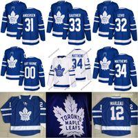 d63950cef07 Toronto Maple Leafs Jersey 31 Frederik Andersen 32 Josh Leivo 33 Frederik  Gauthier 34 Auston Matthews Custom Hockey Jerseys