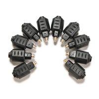 Wholesale Fiber Audio Converter - Mini Optical Fiber Audio Adapter 3.5mm Female Jack Port to Digital Toslink Male Plug Converter Connector