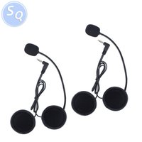 Wholesale speakers for motorcycles - Wholesale- 2PCS V6   V4 Earphone Speaker Accessory for V6 V4 Handsfree Full Duplex Helmet Headset intercom motorcycle