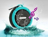 Wholesale Waterproof Speaker Micro - MP3 player C6 bluetooth 3.0 Waterproof mini bluetooth speaker support microphone and micro sd card 20PCS DHL Free