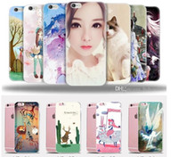 painting comics - For iphone plus s plus Soft TPU Transparent Case Comic Painting colorfully protector silicon electroplate Cell Phone Cases