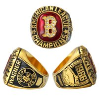 Wholesale Boston White Sox - High quality 1986 boston red sox american league championship ring Wagner championship ring