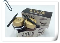 Wholesale Two Color Combination - Lowest price kylie double color eyeliner cake Liner Combination Kylie eyeliner paste In Black Brown with Kylie Eyeliner vs 36 hours eye line