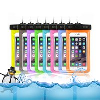 Wholesale Sale Iphone Waterproof - Hot sale Transparent outdoor PVC plastic waterproof case sport protection universal dry case for iphone6 6P S8 any smartphone