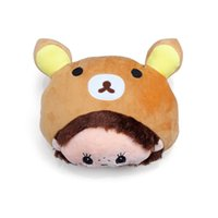 Wholesale headrest cushions - Soft Nice Cute Cartoon Cushion Headrest Neck Rest Pillow Car Accessories Ncek Pillow