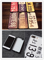 Wholesale Black Phone Number - phone cases For iPhone 7 Plus 6 6s License Plate Number TPU Cases Car Number License Plate Capa Funda Coque Cover