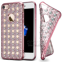 For LG bling jewerly - For iPhone Jewerly Diamond Case Fashion Crystal Bling Bling Case For iPhone Plus Samsung S7 Edge J7 with OPP Package