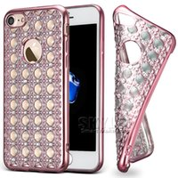 Soft TPU Case Jewerly Casos de diamante Bling Bling para iPhone 7 7Plus Galaxy S8 Plus S8 S7 Edge Com Pacote OPP