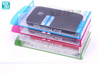 Wholesale Galaxy S3 Mini Retail - Universal PVC Retail package Packaging Plastic boxes for cell phone Case iphone 4 4S 5 5S 5C Galaxy S3 mini S4 mini case Package mix color