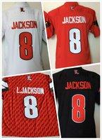 Wholesale Rugby Shirts Cheap - cheap 2016-2017 New Style Cardinals 8 Lamar Jackson Jerseys men College jerseys Limited sport shirt