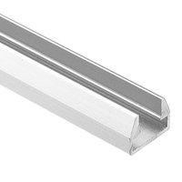 cubierta de perfil de tira de led al por mayor-perfil de aluminio led, 1 m por pieza, perfil de extrusión de aluminio LED para tiras de led con cubierta difusa lechosa o cubierta transparente SN1512