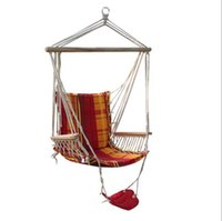 Wholesale Outdoor Adult Swings - Wholesale- Summer Adult Tree Hanging Hammocks Casual Outdoor Canvas Swing chair