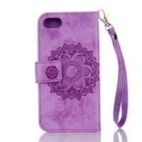 Wholesale Touch 5th Leather - Strap Mandala Muslim Flower Wallet Leather Case For Iphone 7 SE 5 5S 6 6S Plus Iphone7 Ipod Touch 5 6 5th 6th Pouch Stand Card Cover 150pcs
