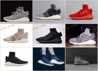 Wholesale Mens Outdoor Socks - 2017 New Tubular Doom Primeknit Sock Shoes Sports Fashion Women Mens Running Shoes Sneakers Trainers Shoes Casual Size 36-45 Free Ship