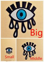 Wholesale Big middle small eye big size embroidery patch Sequined sewing on the clothes clothing applique DIY accessory Arts Crafts Gifts