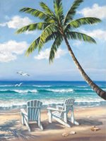 Silicone painting plastic chairs - China Skilled Artist Handmade High Quality Summer Landscape Beach Sea And Beach Chair Oil Painting On Canvas For Decorations