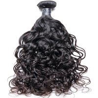 Wholesale 8A Brazilian Virgin Human Hair Water Wave Unprocessed Extensions Bundles Weave With Mixed Lengths Natural Color Black pack