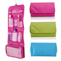 Wholesale Womens Hanging Toiletry Bag - Hot Sale Womens Travel Toiletry Bag Foldable Hanging Wash Cosmetic Makeup Storage Bag Multi-functional Portable Organizer Pouch