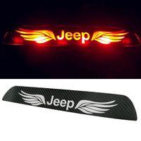Wholesale Tail Light Carbon Film - Car Sticker Carbon Fiber Tail Brake Light Decal Sticker for JEEP COMPASS Grand Cherokee