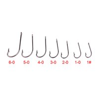 New Arrival 100PC Fishing Hooks O'shaughnessy Series JIG Hook Jig Big Fish hook 9255-1 # -8 / 0 # JIG Gancho