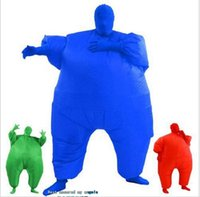 Wholesale Halloween Blowing - 2017 Adult Chub Suit Inflatable Blow Up Color Full Body Costume Jumpsuit 8 Colors