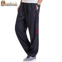 Wholesale Thick Wool Elastic - Wholesale- Grandwish Men's Winter Pants Big size Wool Inside Winter Warm Men Thick Pants Plus size 6XL Mens Fleece Pants Trousers,PA782