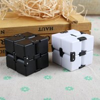 Wholesale Square Games - 2017 New Creative magic Cube Infinity fidget toys Square Flip Cube Puzzle Game Decompression Magic Fidget Spinner Hand Spinne Toys