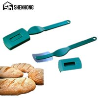 Wholesale french bread resale online - Specialty European Bread Arc Curved Bread Knife Western style Baguette Cutting French Toas Cutter Prestrel Bagel kitchen Tools