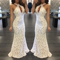 Wholesale Maxi Dress Belt White - 2017 New Arrivals dress sexy prom dresse Panelled belt wedding guest dress with hollow out back design silm sexy design Free Shipping