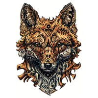 Wholesale Designing Tattoo Machines - frame 34x48cm Large full back machine wolf s Men and Women Waterproof Big Temporary Tattoo Stickers Fake Tattoo Designs