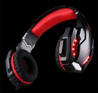 G9000 3.5mm Game Gaming Headphone Fone de ouvido Fone de ouvido Mic LED Light para Laptop Tablet / PS4 / Telemóveis Pc Gamer